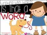 Is That A Word? {A Working With Words Center}