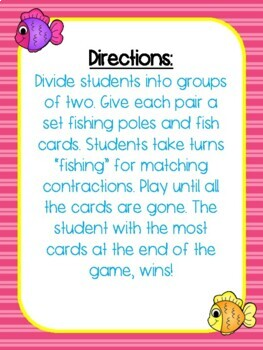 Gone Fishing! Contractions Game