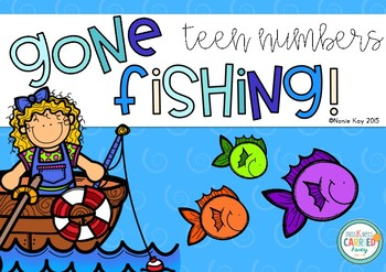 Gone Fishing! I Can Learn My Teen Numbers! Math Centre Game