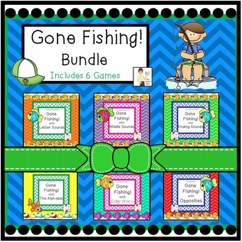 Gone Fishing Literacy Center Games Bundle
