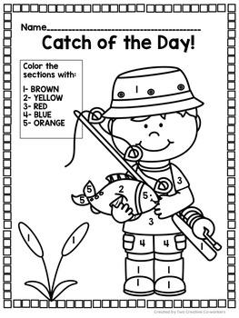 Math Worksheets to develop Number Sense 1-20 {Gone Fishing}