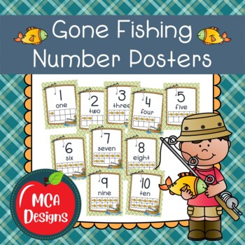Gone Fishing - Number Posters