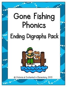 Gone Fishing Phonics: Ending Digraphs Pack