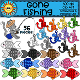Gone Fishing Rainbow Clip Art