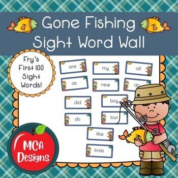 Gone Fishing - Sight Word Wall Bundle