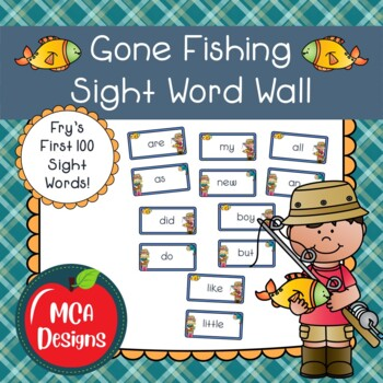 Gone Fishing Sight Word Wall  - Fry's First 100 Words