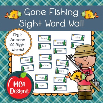 Gone Fishing Sight Word Wall - Fry's Second 100 Words
