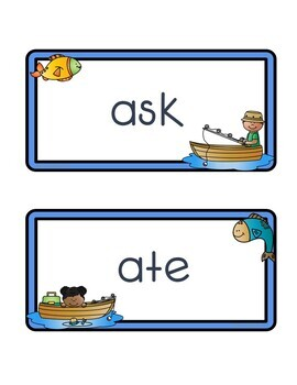 Gone Fishing Sight Word Wall - Fry's Third 100 Words