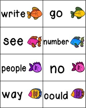 Gone Fishing Sight Words! Bundle of Fry Lists 1-3