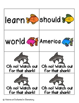 Gone Fishing Sight Words! Fry List 2