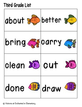 Gone Fishing Sight Words! Third Grade List Edition