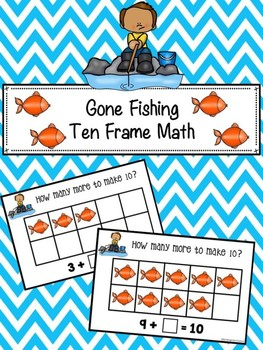 Gone Fishing Ten Frame Math