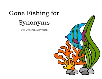 Gone Fishing for Synonyms Card Game Literacy Center