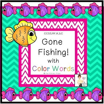 Gone Fishing with Color Words Center Game