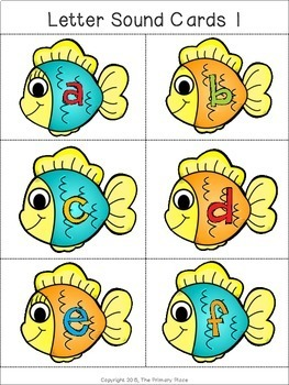 Gone Fishing with Beginning Letter Sounds Center Game