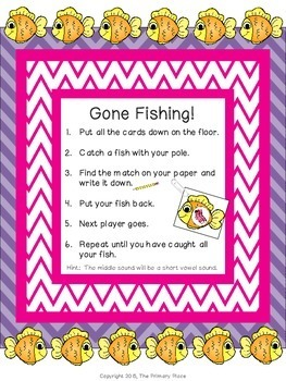 Gone Fishing with Middle Sounds Center Game