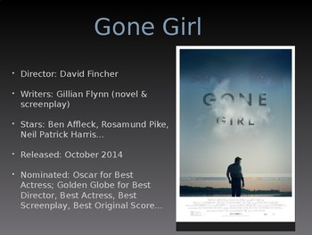 Gone Girl Film Discussion Questions PPT