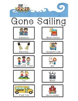 """""""Gone Sailing"""" Out of the Classroom - Pirate Theme"""
