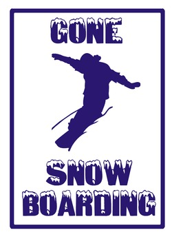 Gone Snowboarding Poster
