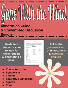 Gone With the Wind Annotation Guide and Student-led Discussion bundle