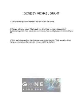 Gone by Michael Grant Literature Circle Unit