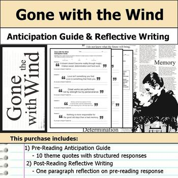 Gone with the Wind - Anticipation Guide & Reflection