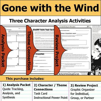 Gone with the Wind - Character Analysis Packet, Theme Connections, & Project
