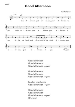Good Afternoon Song (without Accompaniment Track)