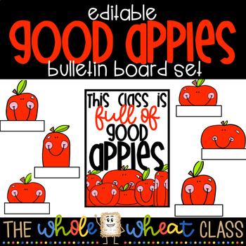 Good Apples Bulletin Board Set- Editable