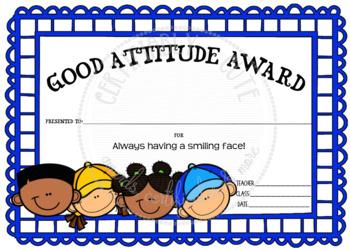 Good Attitude Award 1