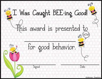Good BEE-havior Award