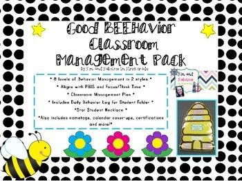 Good BEEhavior Classroom Managment Pack; Bee themed classroom management