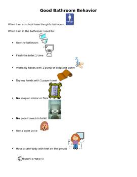 Good Bathroom Behavior (girls) Social Story