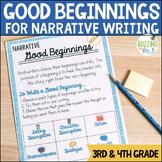Good Beginnings Narrative Writing Minilesson Unit