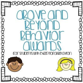 Good Behavior Award