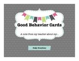 Good Behavior Cards
