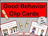 Good Behavior Clip Cards
