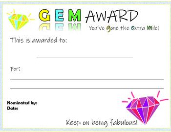 Good Behavior Gem Awards