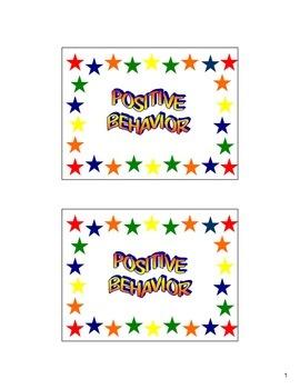 Good Behavior Punch Card Positive Behavior Classroom Management Incentive Reward