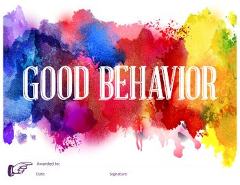 Good Behavior - Reward Certificate
