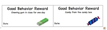 Good Behavior Reward Sheet for Middle and High School