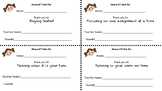 Good Behavior Reward Tickets