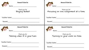 Good Behavior Reward Tickets
