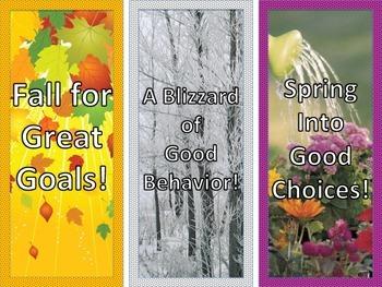 Good Behavior Throughout the Seasons Bookmarks FREEBIE