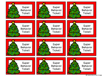 Good Behavior Tickets {a little positive reinforcement for the holiday time!}