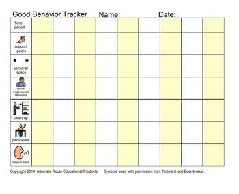 Good Behavior Tracker 1 and 2