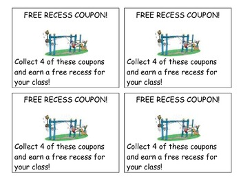 Good Behavior and Reward Coupons
