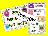 Good Behavior is Not Scary - Moster Clip Chart