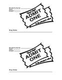 Good Behavor Ticket to the Principal's Office