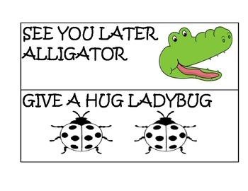 Good-Bye Rhyme Cards